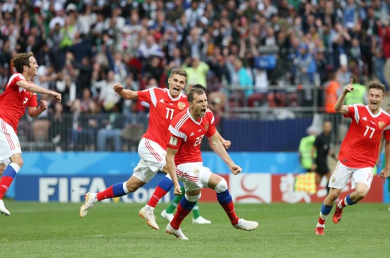 Rusia redondea inauguración con goleada... 5-0 sobre Arabia Saudita