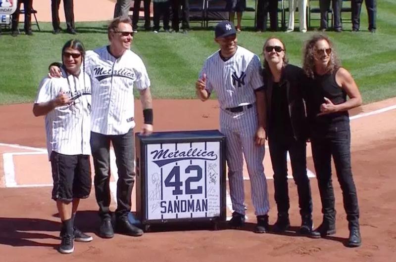 Metallica felicita a panameño Mariano Rivera  por su ingreso al Salón de la Fama