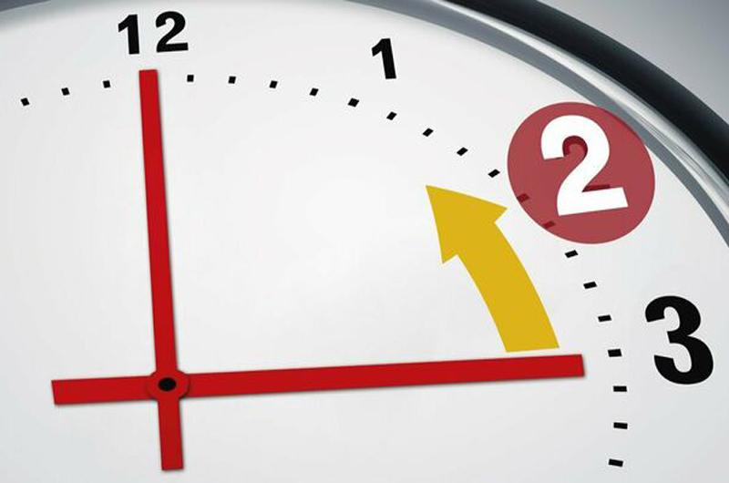 Cambio de horario... A las 3 serán las 2