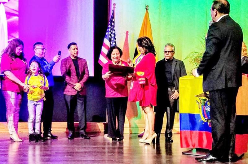 Reconocen labor del Club de Ecuatorianos de Las Vegas