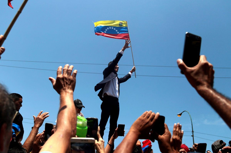 Llegó Guaidó a Caracas, se dice listo para terminar con