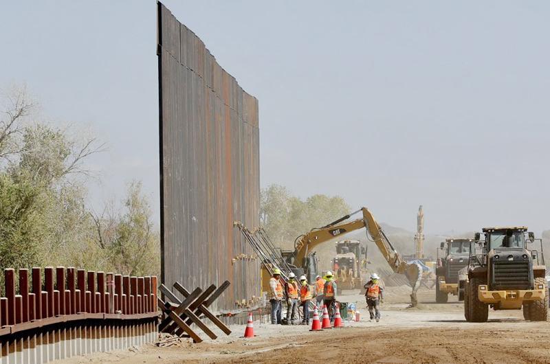 A pesar de la orden de Biden avanza la construcción del muro de Trump