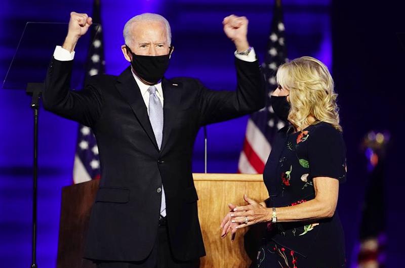 Colegio Electoral: Biden 290, Trump 217 (270 para ganar)