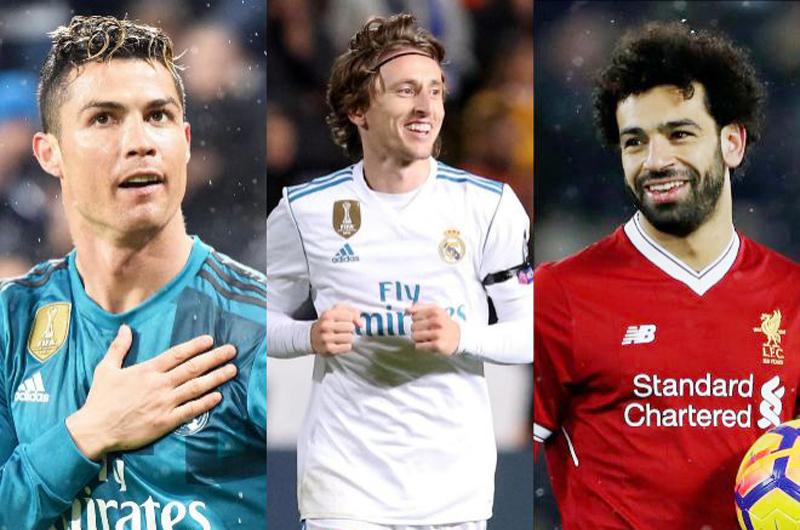 Ronaldo, Modric y Salah: Nominados a Jugador del Año por UEFA