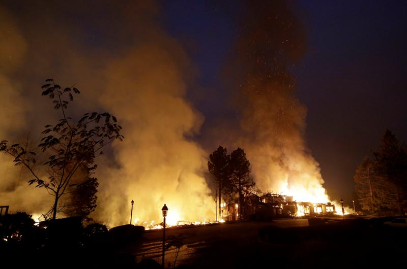 Incendio Mendocino es el más grande en la historia de California