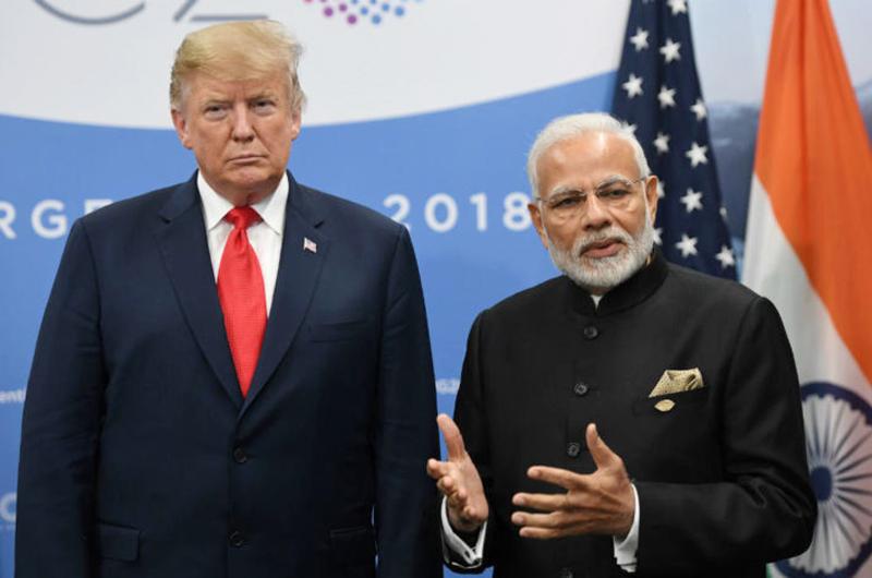 Modi califica de histórica visita de Trump a la India