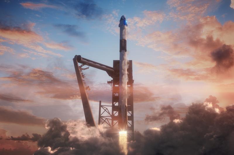 Tripulación del SpaceX se prepara para despegar a una nueva era