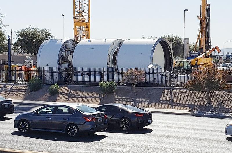 Perforan para el nuevo transporte subterráneo en Las Vegas