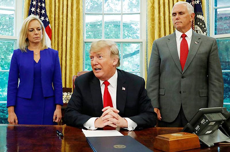 Firmó Trump orden ejecutiva para frenar separación de niños