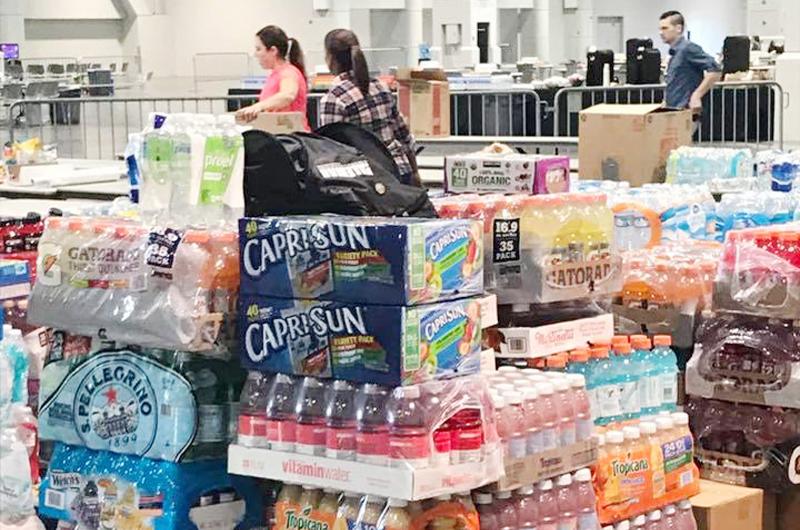 La comunidad a gran altura: Considerable donación de agua y alimentos