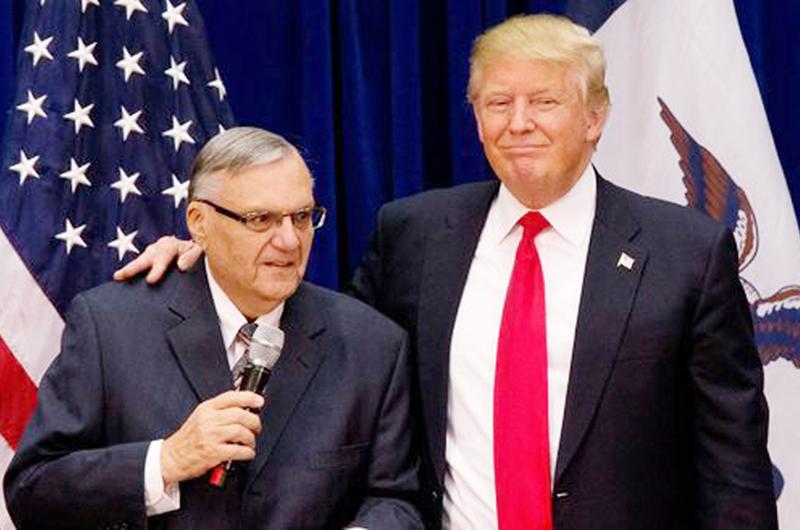 Trump analiza dar perdón presidencial a sheriff antiinmigrante Arpaio
