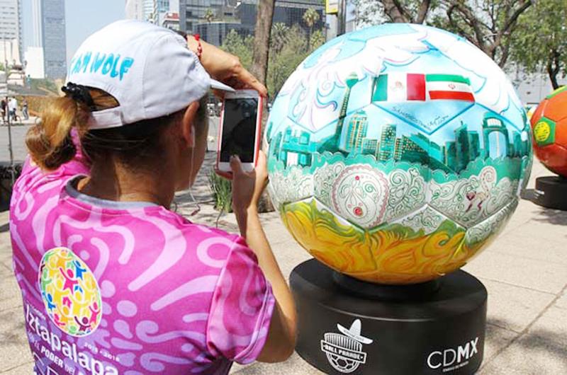 México enviará balones gigantes a Rusia para exhibirlos en la Copa Mundial