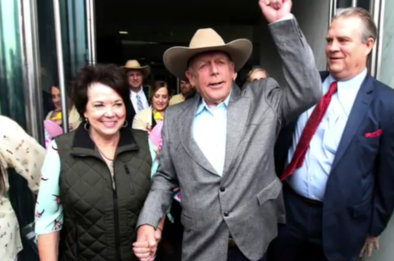 Amenaza liberación de Cliven Bundy a tierras protegidas
