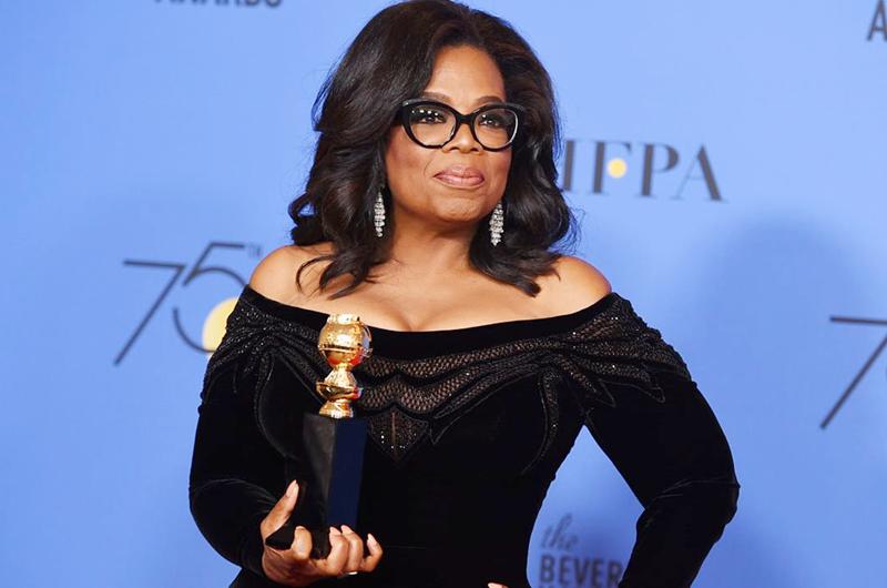 Oprah Winfrey hace historia en los Globos de Oro