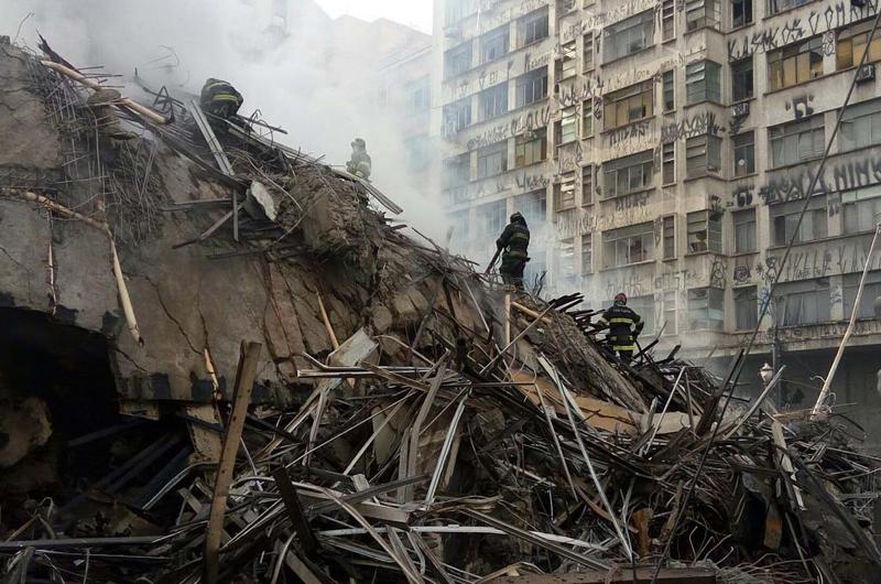Decenas de desaparecidos tras dramático derrumbe en Sao Paulo