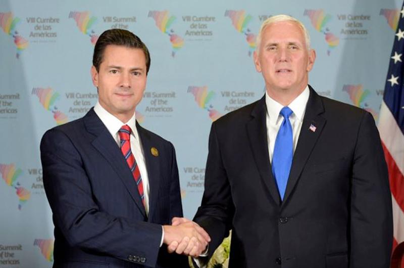 Peña Nieto y Pence aceleran trabajos para firmar actualización de TLCAN