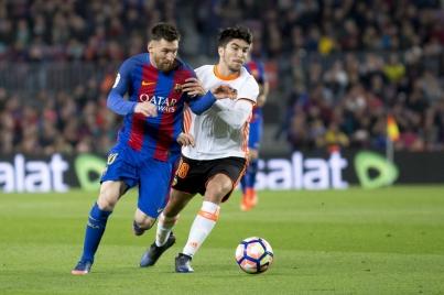 Equipo de Barcelona saca el triunfo 4-2 ante un complicado Valencia